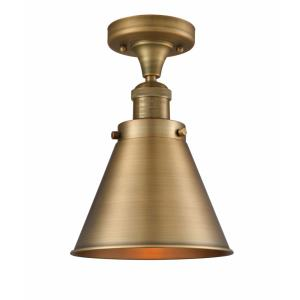 Small Canton-3.5W 1 LED Mini Pendant in Industrial Style-6.5 Inches Wide by 10 Inches High