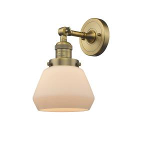 Fulton-3.5W 1 LED Wall Sconce in Industrial Style-7 Inches Wide by 11 Inches High