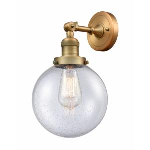 Large Beacon-3.5W 1 LED Wall Sconce in Industrial Style-8 Inches Wide by 14 Inches High