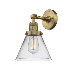 Large Cone-3.5W 1 LED Wall Sconce in Industrial Style-8 Inches Wide by 10 Inches High