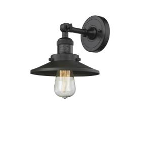 Railroad-1 Light Wall Sconce in Traditional Style-8 Inches Wide by 8 Inches High
