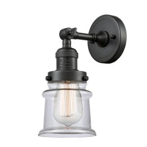 Small Canton-3.5W 1 LED Wall Sconce in Industrial Style-6.5 Inches Wide by 11 Inches High