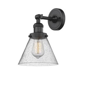 Large Cone-One Light Wall Sconce-8 Inches Wide by 10 Inches High