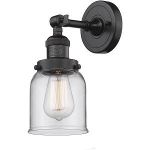 Small Bell-1 Light Wall Sconce in Industrial Style-5 Inches Wide by 12 Inches High