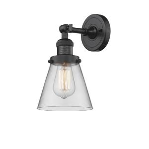 Small Cone-1 Light Wall Sconce in Industrial Style-6.25 Inches Wide by 10 Inches High