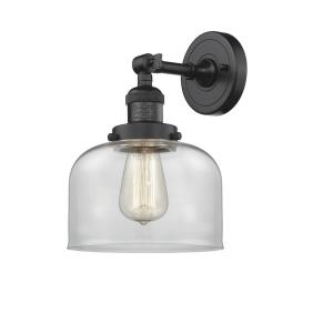 Large Bell-3.5W 1 LED Wall Sconce in Industrial Style-8 Inches Wide by 12 Inches High