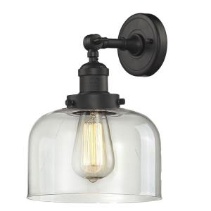 Large Bell-1 Light Wall Sconce in Industrial Style-8 Inches Wide by 12 Inches High