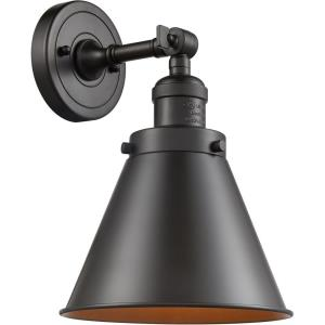 Appalachian-1 Light Wall Sconce in Traditional Style-8 Inches Wide by 13 Inches High