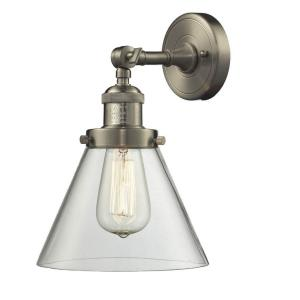 One Light Large Cone Wall Sconce