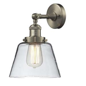One Light Small Cone Wall Sconce