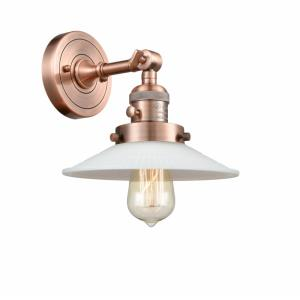 Halophane-1 Light Wall Sconce in Industrial Style-8.5 Inches Wide by 8 Inches High