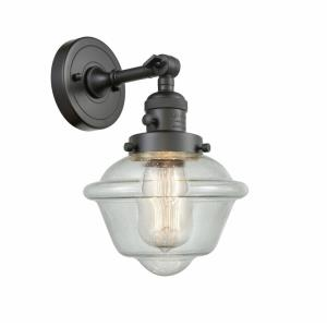 Small Oxford-1 Light Wall Sconce in Traditional Style-7.5 Inches Wide by 12 Inches High