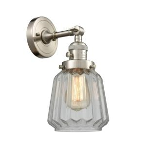 Chatham-1 Light Wall Sconce in Art Deco Style-6.25 Inches Wide by 12 Inches High