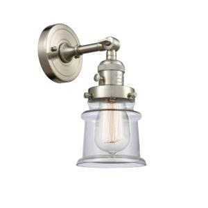 Small Canton-1 Light Wall Sconce in Industrial Style-6.5 Inches Wide by 11 Inches High