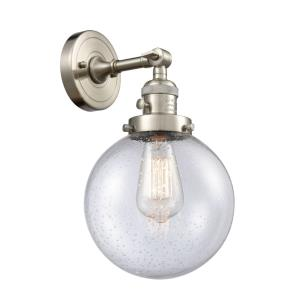 Large Beacon-1 Light Wall Sconce in Industrial Style-8 Inches Wide by 14 Inches High