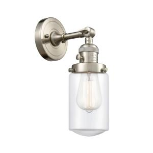 Dover-1 Light Wall Sconce in Traditional Style-4.5 Inches Wide by 12.75 Inches High