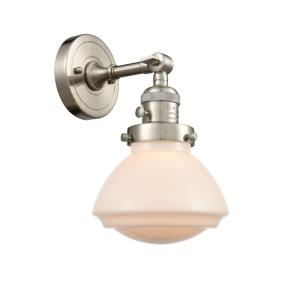 Olean-1 Light Wall Sconce in Industrial Style-6.75 Inches Wide by 7.75 Inches High