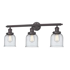 Small Bell-3 Light Bath Vanity-30 Inches Wide by 11 Inches High