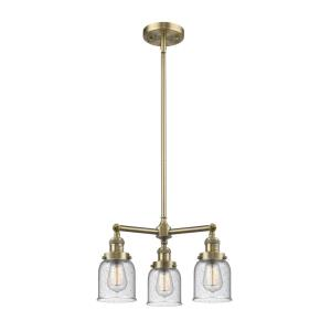 Small Bell - Three Light Adjustable Chandelier