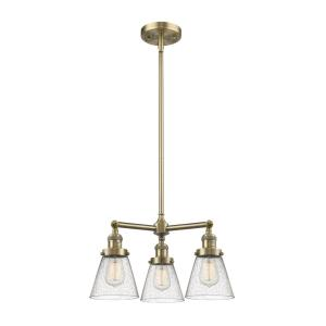 Small Bell - Three Light Adjustable Chandelier