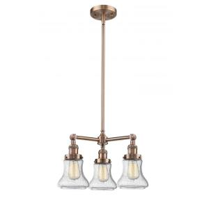 Bellmont-Three Light Adjustable Chandelier-22 Inches Wide by 13 Inches High