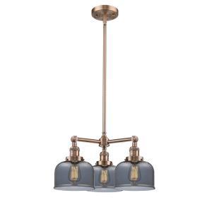 Three Light Large Bell Chandelier