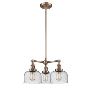 Large Cone - Three Light Adjustable Chandelier