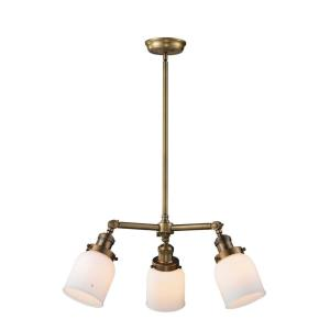 Three Light Small Bell Chandelier