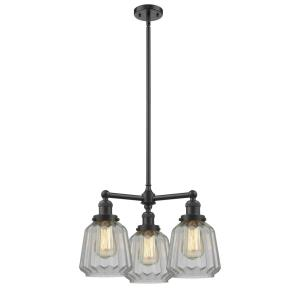 Chatham-10.5W 3 LED Chandelier in Art Deco Style-24 Inches Wide by 15 Inches High