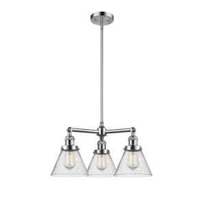 Large Cone - 3 Light Chandelier
