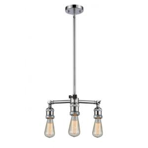 Bare Bulb - 15 Inch 10.5W 3 LED Chandelier