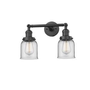 Small Bell-2 Light Bath Vanity in Industrial Style-16 Inches Wide by 10 Inches High