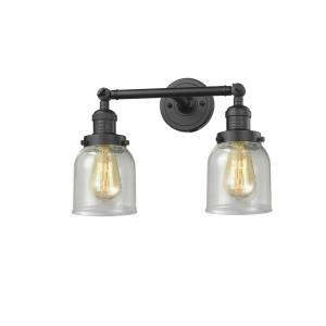 Small Bell-Two Light Adjustable Wall Sconce-16 Inches Wide by 10 Inches High
