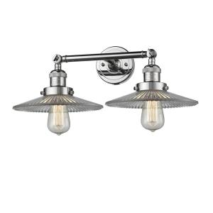 Two Light HalophaneWall Sconce