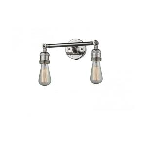 Two Light Bare Wall Sconce
