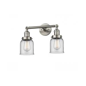Two Light Small Bell Wall Sconce
