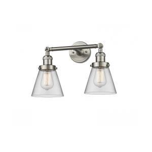 Two Light Small Cone Wall Sconce