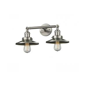 Two Light Railroad Wall Sconce