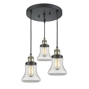 Bellmont-3 Light Multi-Pendant in Industrial Style-13 Inches Wide by 31.5 Inches High