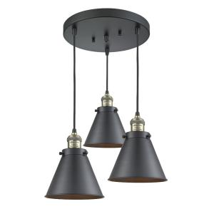 Appalachian-3 Light Multi-Pendant in Industrial Style-14 Inches Wide by 10 Inches High