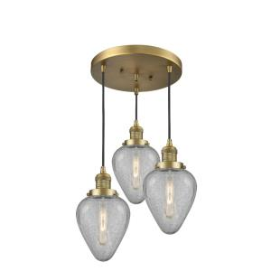 Geneseo-Three Light Adjustable Cord Pan Chandelier-13 Inches Wide