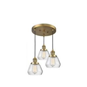 Fulton-Three Light Adjustable Cord Pan Chandelier-13 Inches Wide