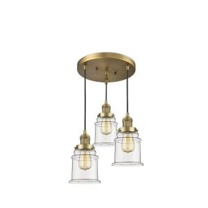 Canton-Three Light Adjustable Cord Pan Chandelier-13 Inches Wide