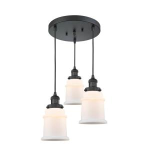 Canton-3 Light Multi-Pendant in Industrial Style-13 Inches Wide by 33.75 Inches High