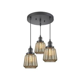 Chatham - Three Light Adjustable Cord Pan Chandelier