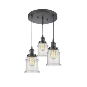 Canton - Three Light Adjustable Cord Pan Chandelier