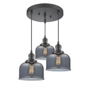 Large Bell - 3 Light Multi-Pendant