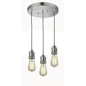 Addison-Three Light Adjustable Cord Pan Chandelier-10 Inches Wide