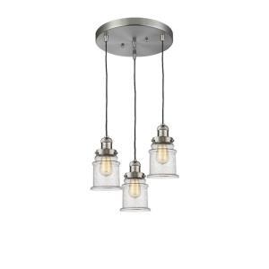 Canton - Three Light Adjustable Cord Pan Chandelier