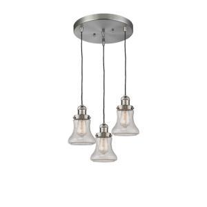 Bellmont - Three Light Adjustable Cord Pan Chandelier